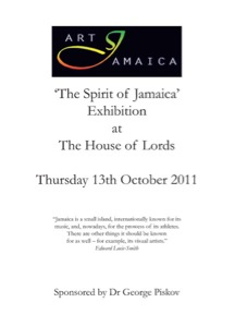 "Catalogue ""The Spirit of Jamaica""<br />Exhibition at The House of Lords, London, 13 October 2011"