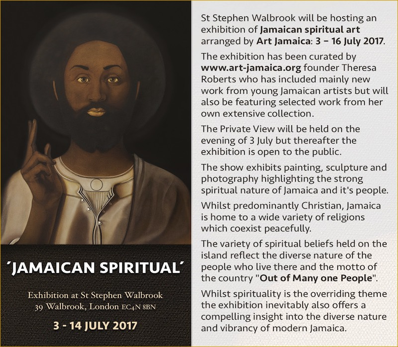 image Black Jesus Painting and inviation to art exhibition