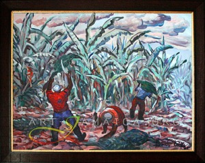 Banana trees on Jamaica painting by Alexander Cooper