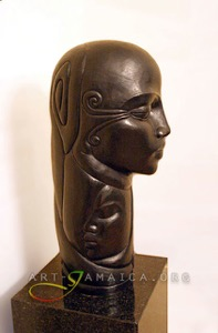 Gene Pearson's sculpture of a bronze head second image